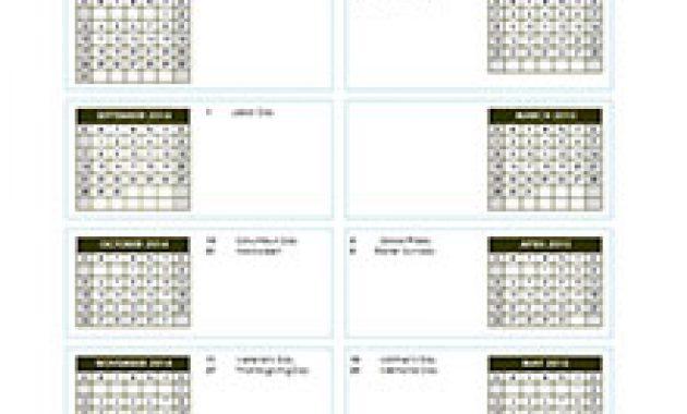 2018 17 school year calendar template - Intoanysearch