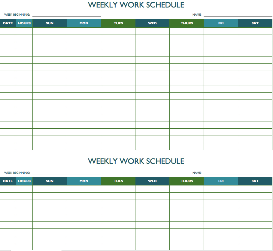 Free Printable Weekly Appointment Calendars Bi Weekly Calendar