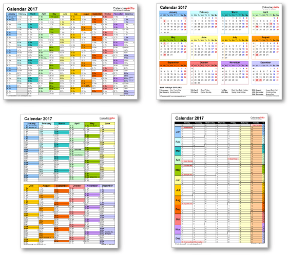 Online Calendar Showing Week Numbers Httpvirtualnerd Calendar 2017 Uk With Bank Holidays And Excelpdfword Templates