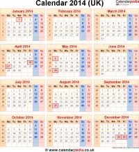 2014 Calendar Template Uk Costumepartyrun