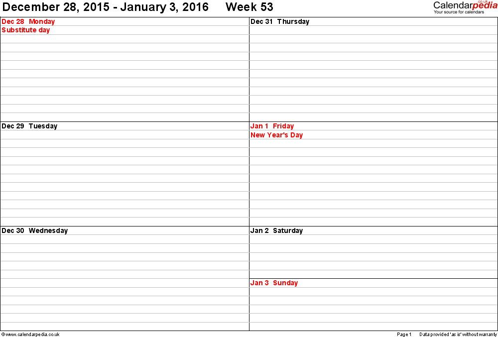 Weekly Calendar Template For Numbers – Numbers Templates Free