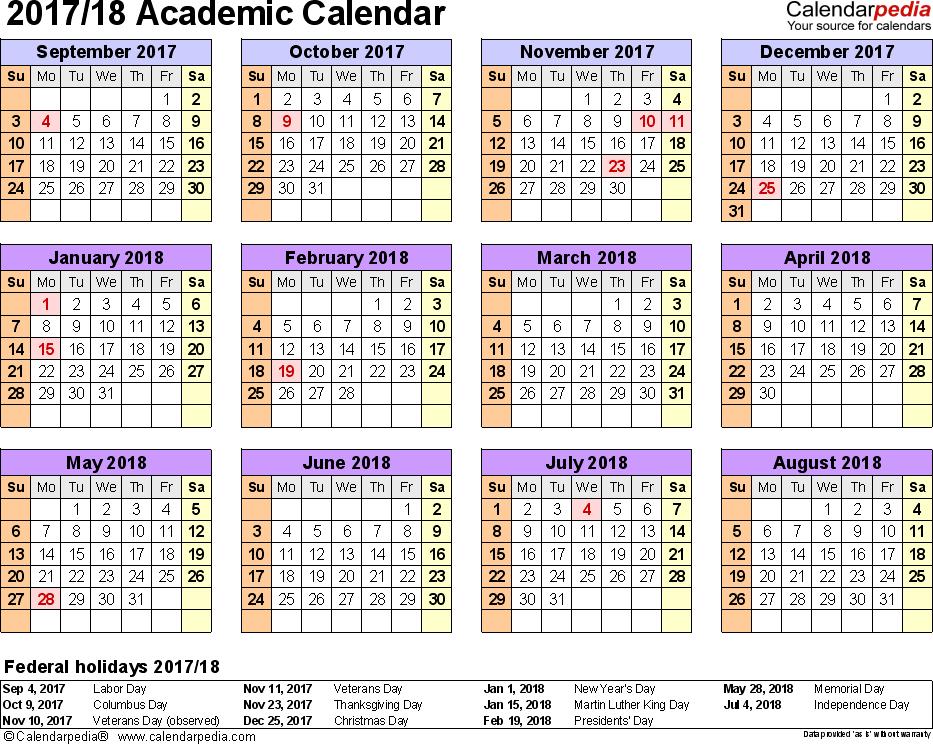 School Holidays 2018 Download School Holidays Calendar Pdf Academic Calendars 20172018 As Free Printable Excel Templates