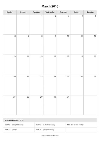 Calendar Printables -