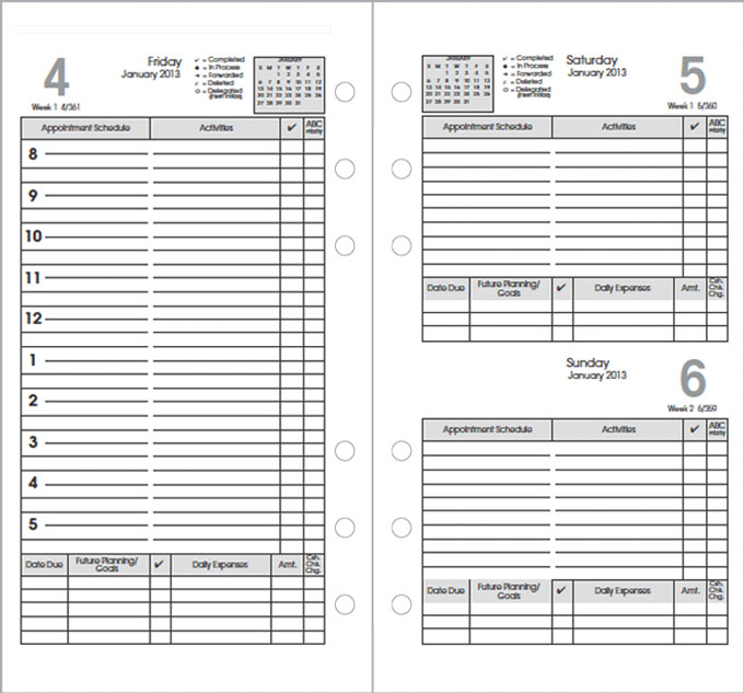 Calendar Refills2018/2019, Calendar Refills for Planners and Agendas - daily monthly planners