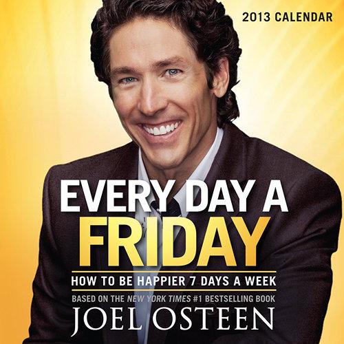 Joel Osteen motivational success desk calendars 2016