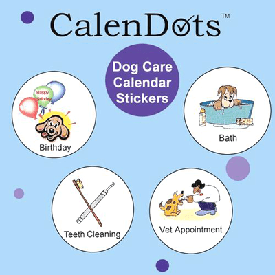 Calendar stickers for dog owners