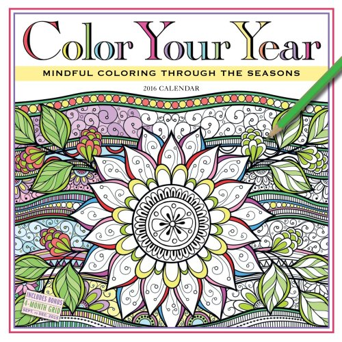 Fun coloring calendars and planners for adults 2016 2017 Coloring book planner