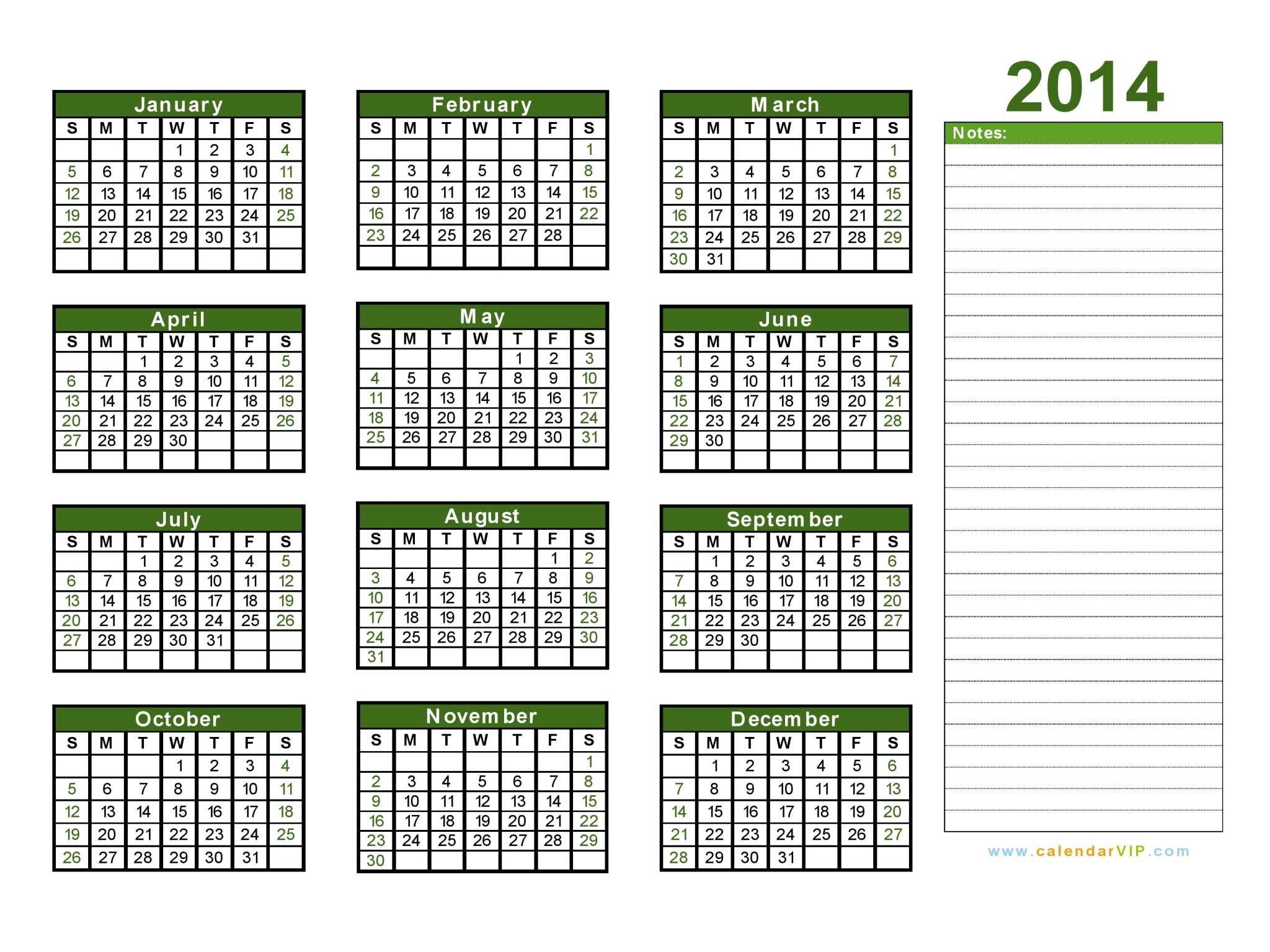 Printable 2014 Calendar 2014 Calendar Blank Printable Calendar Template In Pdf