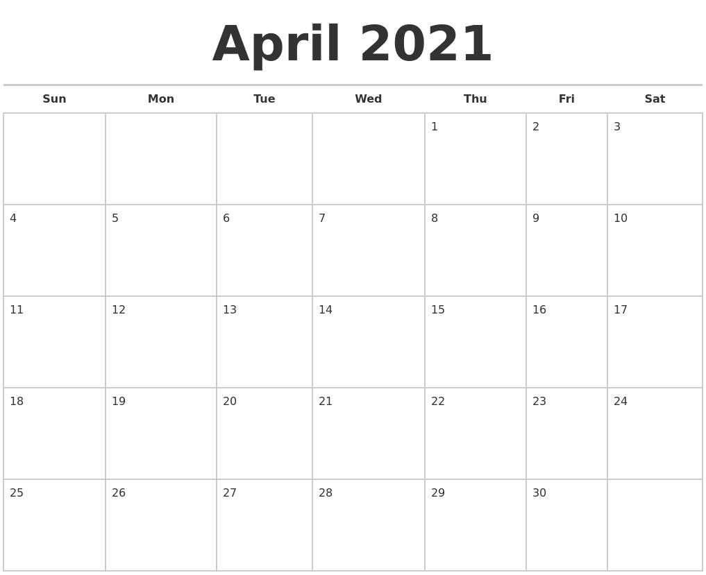 April Calendar Free April Wikipedia September 2021 Calendar Maker