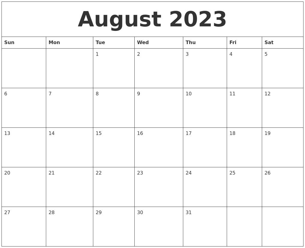 Online Calendar Printable Free My Free Calendar Maker Generate 2013 2014 Printable August 2023 Free Online Calendar