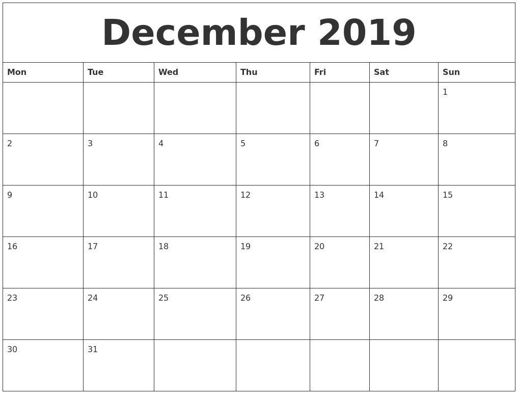 Free Calendar Templates With Photo Photo Calendar 2017 Free Printable Word Templates December 2019 Free Printable Calendar Templates