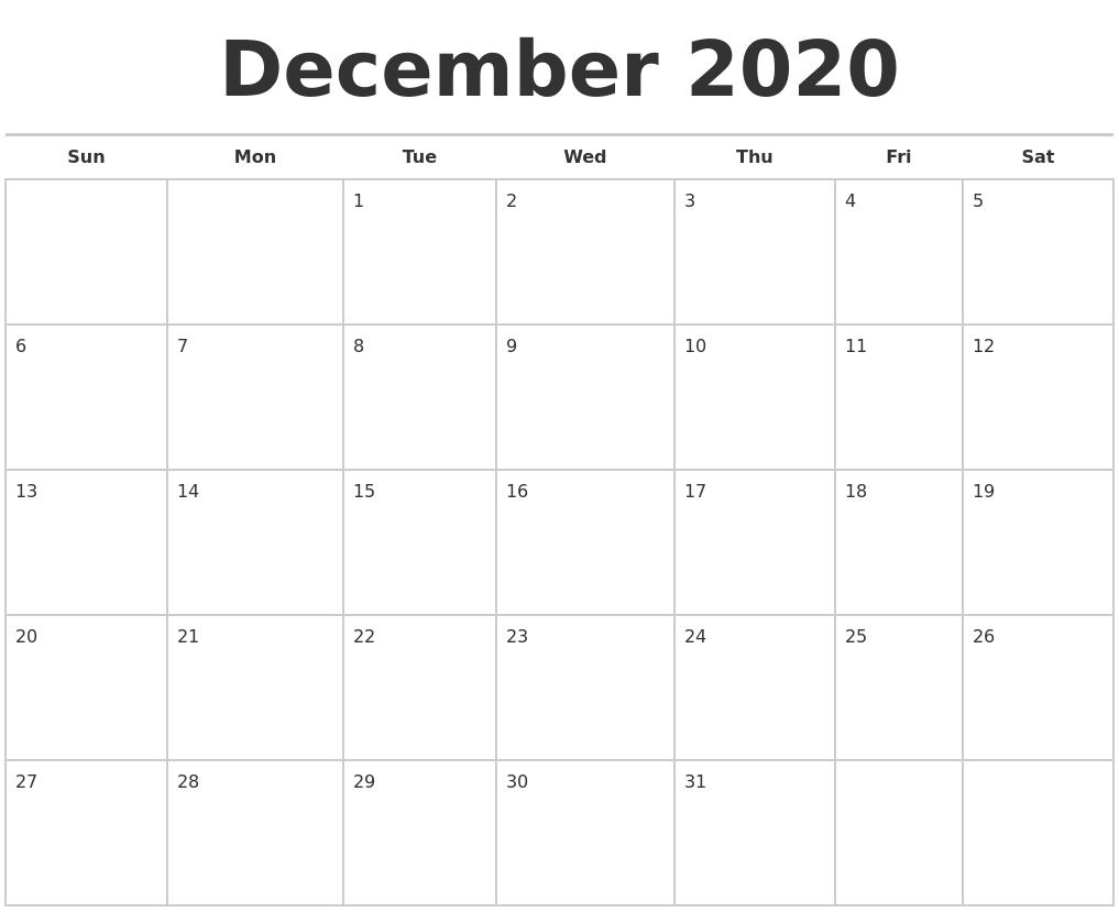 Calendar Template November December January 2018 Calendar Template November 2020 Monthly Calendar Template