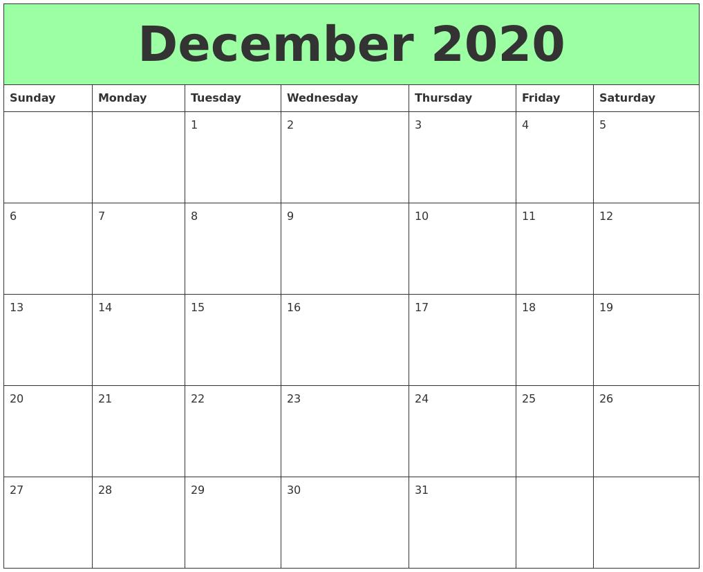 2018 Calendars Wall Desk Planners Shop Calendars December 2020 Printable Calendars
