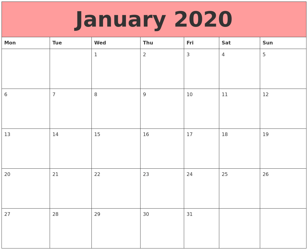 Calendars That Work Calendars That Work Be Dependable Write It Down On A January 2020 Calendars That Work