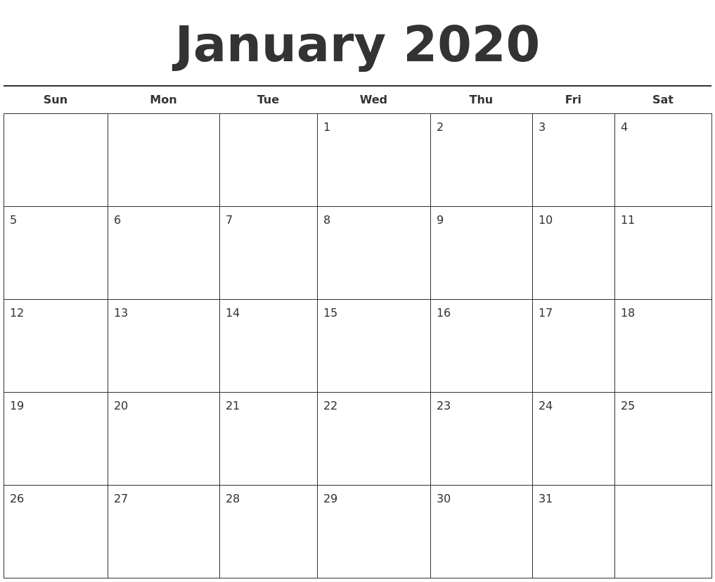 Free Monthly Calendar Template Free 2016 Monthly Calendar Template April 2020 Monthly Calendar Template