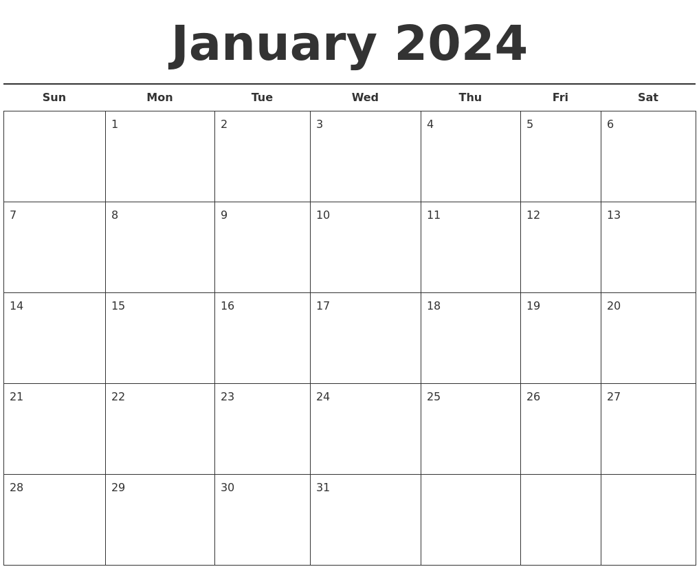 Free Monthly Calendar Template Free Blank Calendar Template Free Printable 2018 February 2024 Blank Monthly Calendar