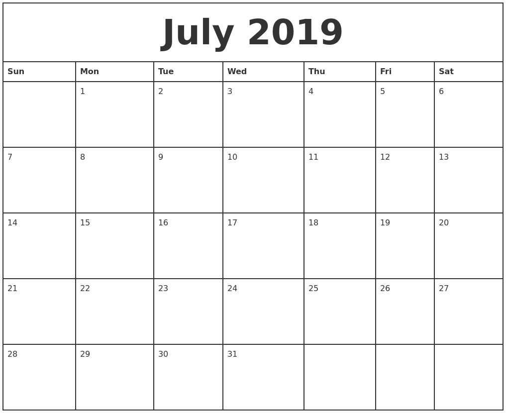 Printable Monthly Calendar Templates Free Printable 2018 April 2019 Blank Calendar Template