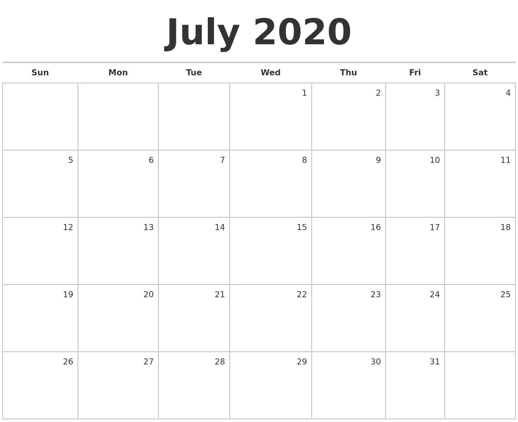 January 2018 Calendar Printable Monthly Calendar Of March 2020 Print Free Calendar