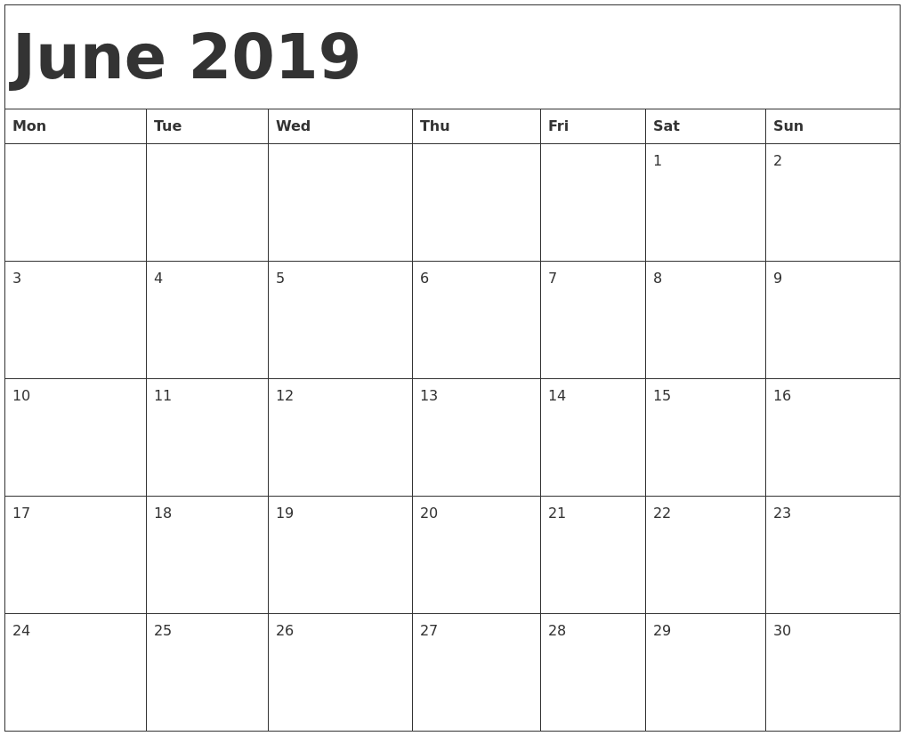 Calendar For 2019 Calendar For Year 2019 United States Time And Date June 2019 Calendar Template