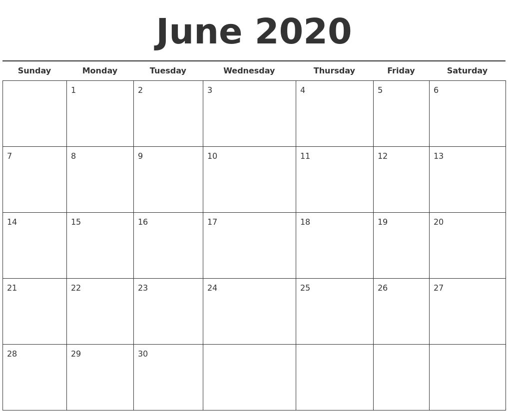 june calendar 2019 template
