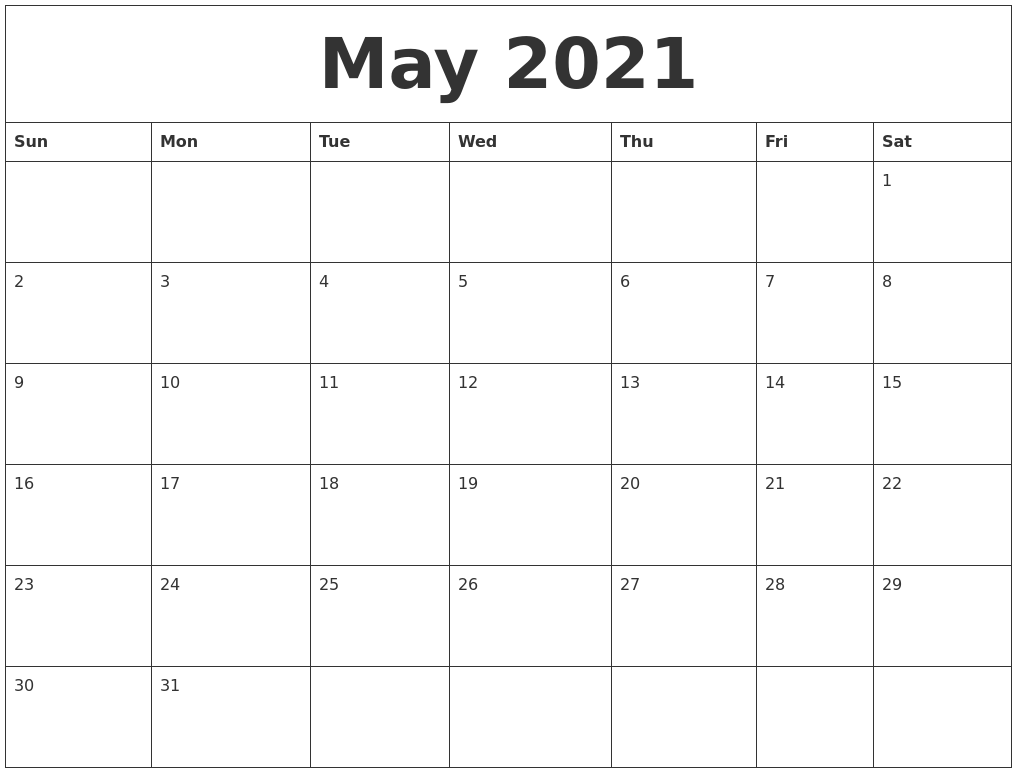 Printable Blank Calendar May Blank Calendar Printable 2016 Calendar Templates May 2021 Blank Calendar To Print