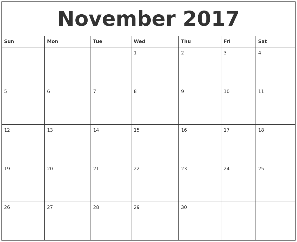 Calendar For Year 2018 United States Time And Date October 2017 Make Calendar