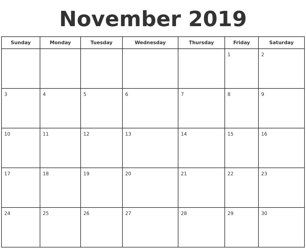 Monthly Calendar Nov 2017 Holidays 2017 Calendar Of Events Teaching Ideas November 2019 Print A Calendar