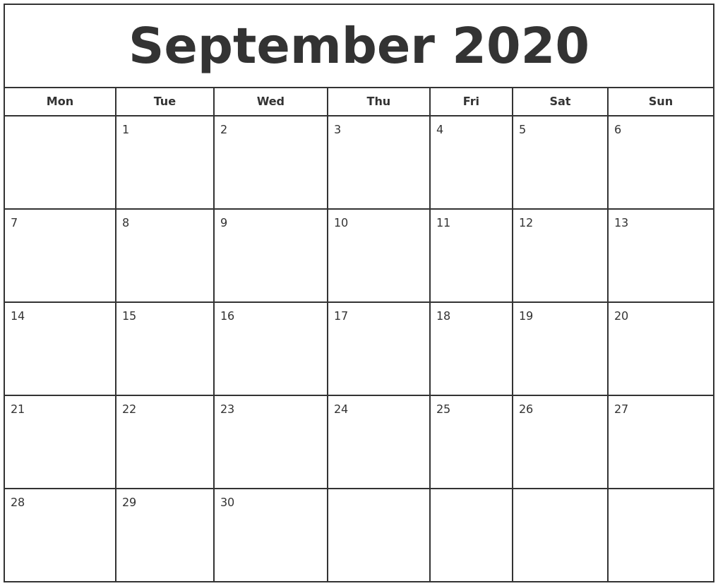 Calendar For Free To Print My Calendar Maker Design And Print Your Own Free September 2020 Print Free Calendar