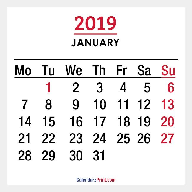 Monthly Calendars Monday Start \u2013 CalendarzPrint Free Calendars