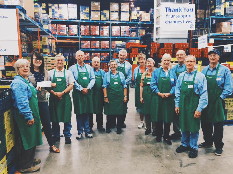 Every month for the last 20 years, we've see this awesome group of BP volunteers donating their time in the warehouse! On this day, they generously brought in a cheque with them for their volunteer shift. Thank you to our BP Calgary retirees, we can always rely on your hard work (and perfectly coordinated outfits)