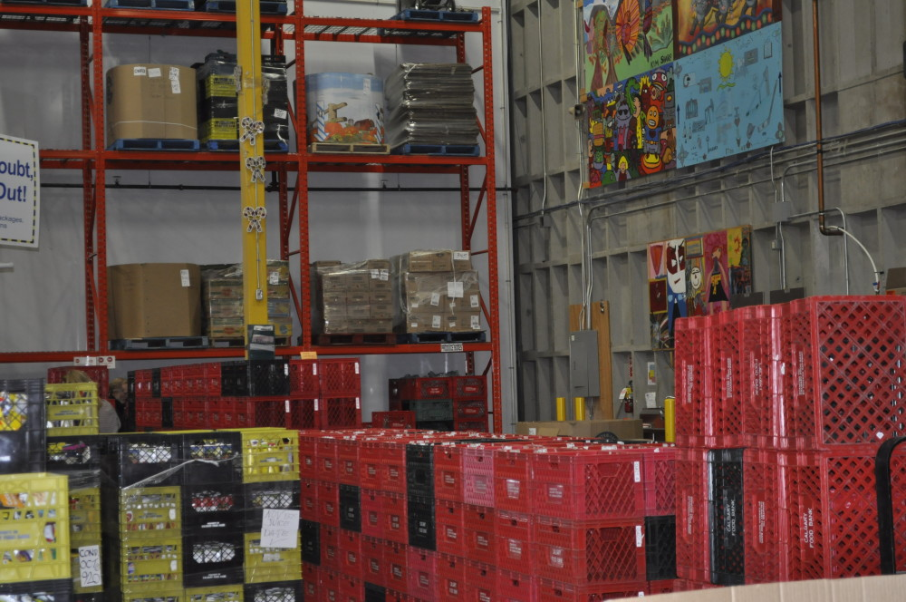 $1 allows the food bank to gather, purchase and distribute $5 worth of food