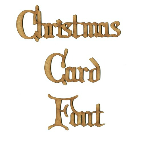 Custom Words in Christmas Card Font, 12 Letters - choice of size