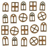 Mini Windows MDF Wood Shapes for altered art and craft ...