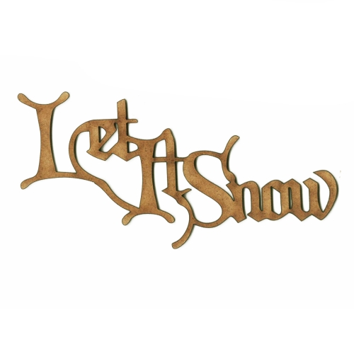 Let It Snow - Wood Word cut outs in Christmas Card font - christmas card word