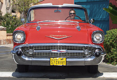 A Matador Red 1957 Chevy Bel Air Convertible!