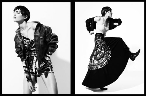 Black and white shoot by Josh Olins