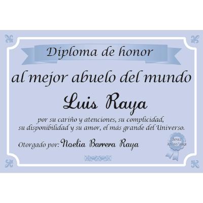 Diploma al mejor abuelo del mundo - certificado de reconocimiento para imprimir