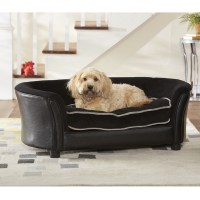 Pet Sofa Beds Rover Oval Chocolate Brown Leather Pet Sofa ...