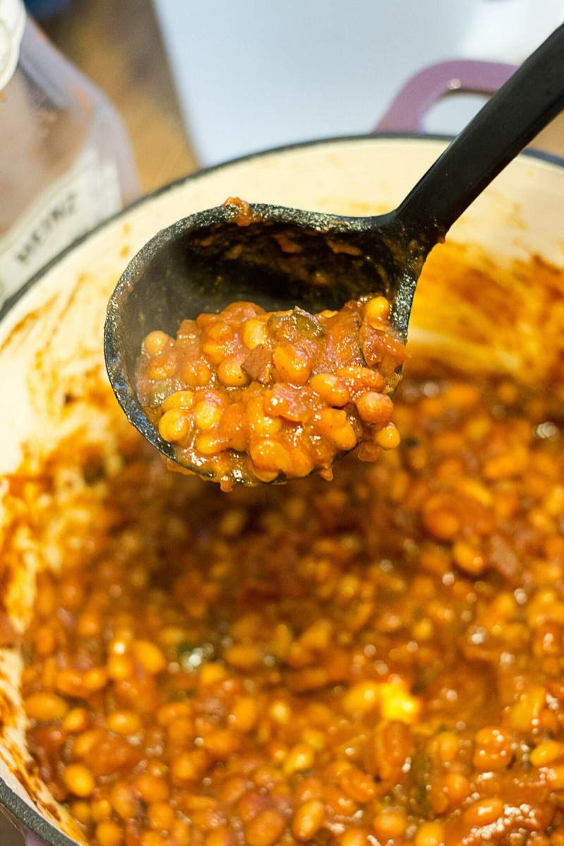 Pineapple Baked Beans (from scratch!)