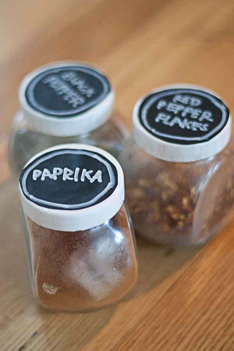 DIY Spice Jars (Ikea Hack)