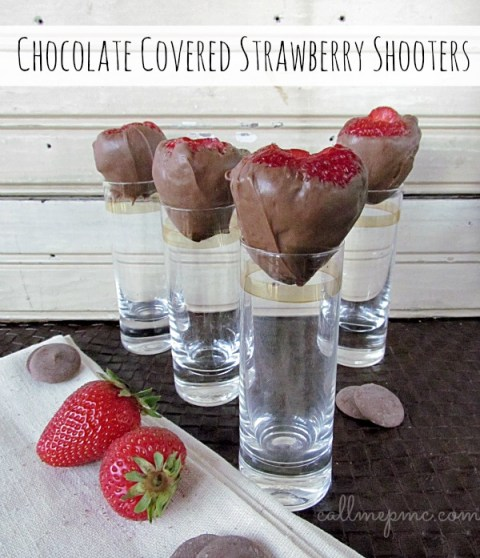 Chocolate Covered Strawberry Shooters