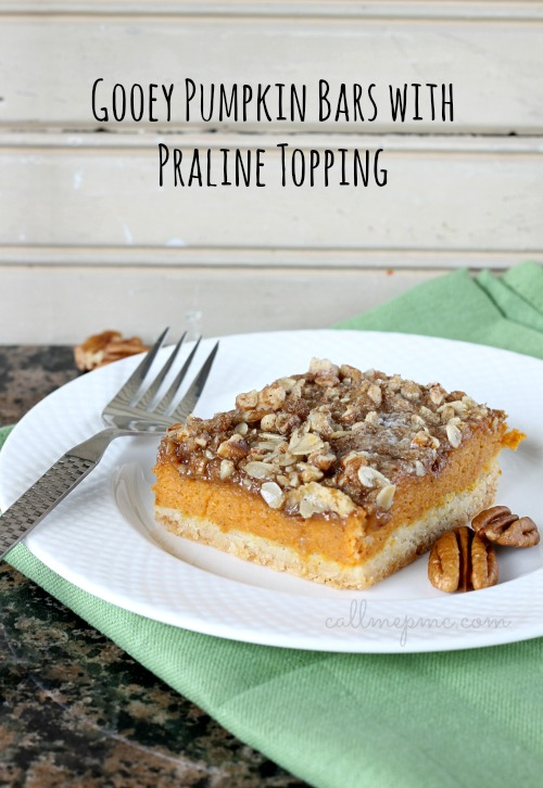 Gooey Pumpkin Bars with Praline Topping #callmepmc
