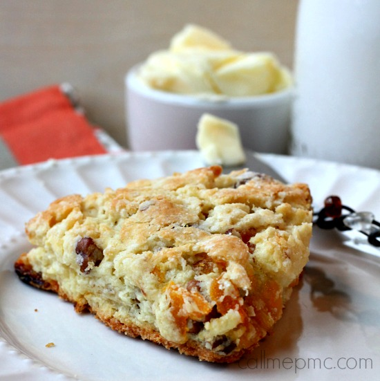 Apricot Scones with Apricot Honey Butter