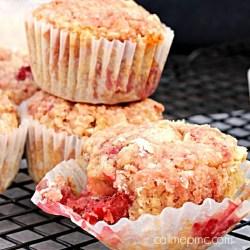 Strawberry Almond Milk Coconut Oil Muffins Healthy Breakfast
