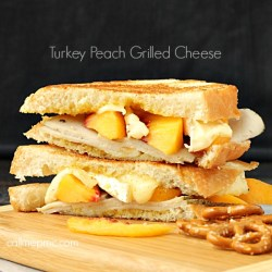 Turkey Peach Grilled Cheese