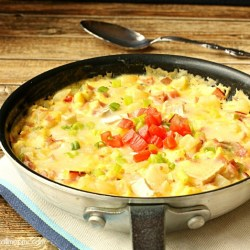 Ham Cheese and Potato Frittata