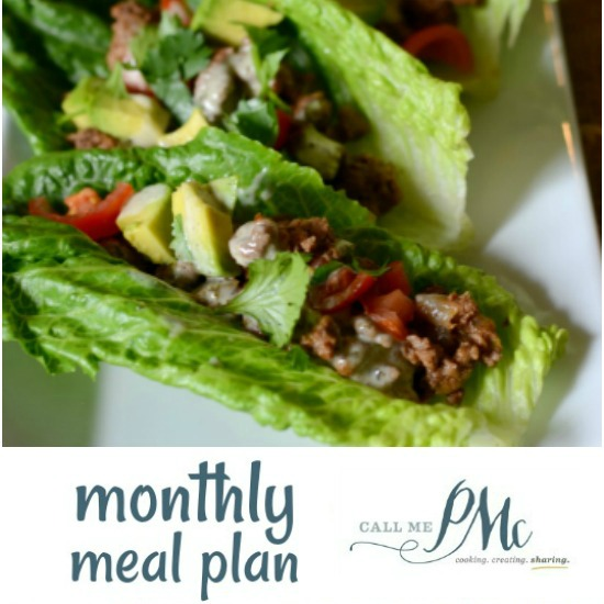 October Monthly Recipe Meal Plan » Call Me PMc