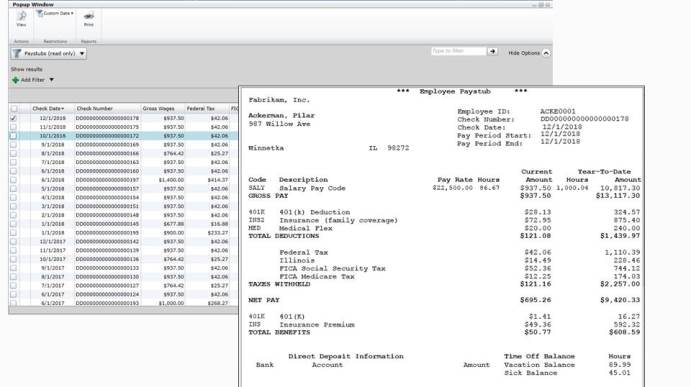 Dynamics GP 2015 Feature of the Day \u2013 Employee Paystubs