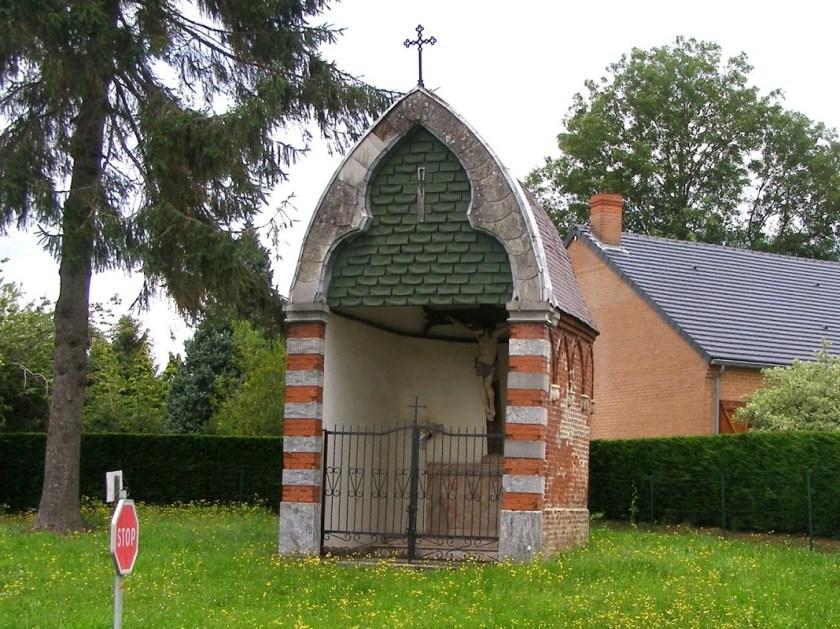 Le Calvaire d'Aibes (1871 et 1996). Rue du cimetière D963