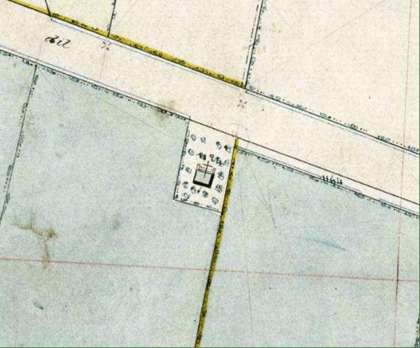 Plan cadastral 1868 section A Le Village n°1124 au bord du chemin dit du Mont de Dourlers